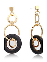 Drop Earrings Hoop Earrings Earrings Fashion Copper Chrome 24K Plated Gold Circle Jewelry ForWedding Party Special Occasion Halloween
