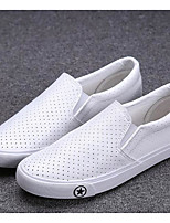 Men's Sneakers Comfort PU Spring Casual White Black Khaki Flat
