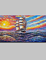 Hand Painted Ship Oil Painting On Canvas Modern Abstract Wall Art Picture For Home Decoration Ready To Hang