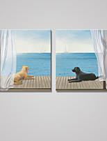Отпечатки на холсте Животное Modern Классика,2 панели Холст Квадратная Печать Искусство Декор стены For Украшение дома