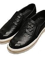 Men's Loafers & Slip-Ons Comfort Microfibre Spring Casual Comfort Black Orange Gray Flat