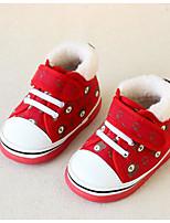 Девочки На плокой подошве Обувь для малышей Полотно Весна Осень Повседневные Для прогулок Обувь для малышей На липучках На низком каблуке