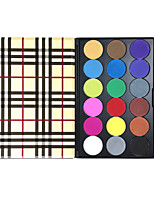 PRO Eyeshadow Palette 18 Color Eyes Makeup Palette Colored Pigment Shadow Matte&Shimmer Cosmetic Glazed Rose Gold Textured Checked Case Kit