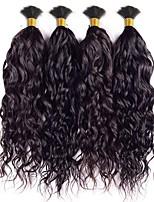 Indian Water Wave Virgin Hair Curly Human Braiding Hair Bulk Curly No Weft Human Hair for Micro Braids Natural Black 4 Pcs lot