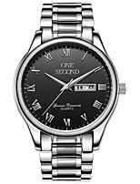 Homens Relógio Esportivo Relógio de Moda relógio mecânico Mecânico - de dar corda manualmente Calendário Impermeável Lega BandaPrata