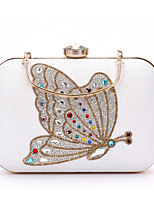 L.WEST Woman Fashion Luxury High-grade Butterfly Diamonds Evening Bag