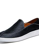 Для мужчин Мокасины и Свитер Удобная обувь Микроволокно Весна Лето Свадьба Для прогулок Для вечеринки / ужина На плоской подошвеЧерный