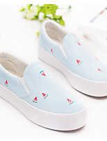 Women's Sneakers Comfort Canvas Spring Casual Comfort Light Blue Blushing Pink Beige Flat