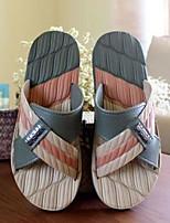 Men's Slippers & Flip-Flops Comfort Pigskin Spring Casual Comfort Army Green Blue Khaki Flat