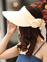 Visors Cap Womens' Flower Sun Hat Summer Folding Outdoor Tourism Beach Wide Brim Hat Peaked Cap