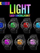SKMEI Homens Relógio Esportivo Relógio Militar Relogio digital Japanês Digital Calendário Impermeável alarme Cronômetro Noctilucente PU