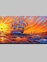 Pintados à mão Paisagens Abstratas Horizontal,Moderno Estilo Europeu 1 Painel Tela Pintura a Óleo For Decoração para casa