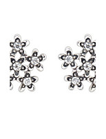 Euramerican Elegant Adorable Rhinestone Floret Stud Earrings Lady Daily Stud Earrings Gift Jewelry