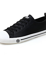 Men's Sneakers Comfort Canvas PU Spring Casual White Black Blue Flat