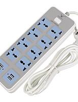 4 ports USB 8 sorties 10a prise 220v 2.0m prise uk plug eu plug power