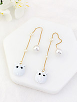 Women's Drop Earrings Imitation Pearl Euramerican Fashion Alloy Owl Jewelry For Party Daily 1 Pair
