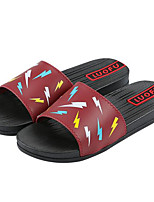 Men's Slippers & Flip-Flops Comfort PP (Polypropylene) Spring Casual Black Light Blue Burgundy Flat