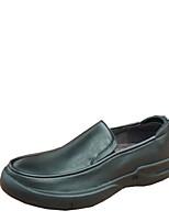 Для мужчин Туфли на шнуровке Удобная обувь Кожа Весна Лето Повседневный Черный Коричневый 2,5 - 4,5 см