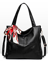 Women Tote PU All Seasons Formal Casual Event/Party Wedding Office & Career Barrel Zipper Gray Red Black Blue