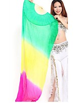 Belly Dance Stage Props Women's Performance Elastic Silk-like Satin 1 Piece Leisure 1 Fan Hip Scarf