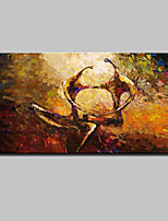 Large Hand Painted Abstract Dance Lovers Oil Painting On Canvas Wall Art Picture For Home Decoration Ready To Hang