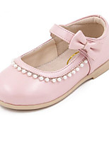 Girls' Flats First Walkers Real Leather Sheepskin Spring Fall Casual Walking First Walkers Magic Tape Low Heel Light Pink White Gold Flat