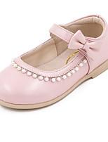 Fille Ballerines Premières Chaussures Vrai cuir Peau de mouton Printemps Automne Décontracté Marche Premières Chaussures Scotch Magique