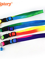 Fashion Rainbow Nylon Pet Dog Collar Cute Bells For Dog Cat Collars Pet Product Christmas Accessories