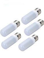 Marsing E27 56-5730SMD  Cold White LED Lights AC220-240V Corn Blub(5PCS)