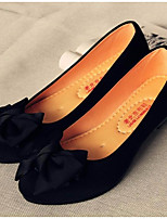 Women's Flats Comfort PU Canvas Spring Casual Black Flat