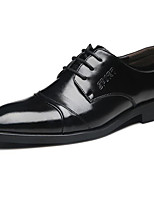 Men's Oxfords Fall Winter Formal Shoes Cowhide Office & Career Party & Evening Dress Casual Coffee Black Big Size