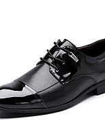 Для мужчин Туфли на шнуровке Лакированная кожа Осень Зима Черный Темно-русый 2,5 - 4,5 см