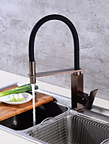 Contemporary Kitchen Faucet Pre Rinse Brass Chrome One Hole Ceramic Valve Kitchen Faucet