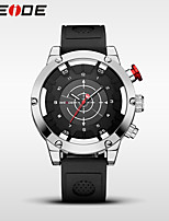 WEIDE Men's Sport Watch Dress Watch Fashion Watch Japanese Quartz Water Resistant / Water Proof Silicone Band Cool Casual Black