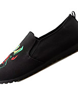 Men's Loafers & Slip-Ons Comfort Tulle Spring Fall Outdoor Walking Flat Heel Green Red Black Gold Under 1in
