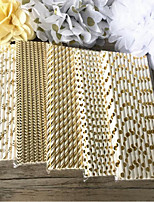 25pcs Mixed Gold Golden Paper Straws Party Supply Kids Birthday Party Wedding Decorations Paper Drinking Straws
