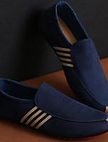 Men's Loafers & Slip-Ons Tulle Spring Black Blue Flat