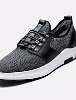 Men's Athletic Shoes Comfort Tulle Spring Fall Athletic Outdoor Walking Comfort Lace-up Flat Heel Gray Blue Flat