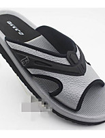 Men's Slippers & Flip-Flops Comfort PVC Spring Casual Comfort Brown Gray Flat