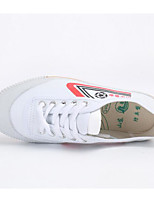 Men's Sneakers Canvas Spring White Flat