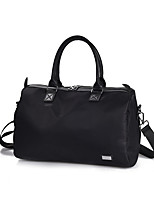 Women Travel Bag PU Nylon All Seasons Casual Stage Office & Career Club Pillow Zipper Black