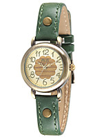 Women's Fashion Watch Quartz Leather Band Red Green