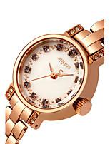 Mulheres Relógio de Moda Bracele Relógio Japanês Quartzo Impermeável Lega Banda Azul Prata Dourada Ouro Rose