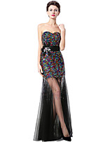 Formal Evening Dress Trumpet / Mermaid Sweetheart Floor-length Tulle with Sequins