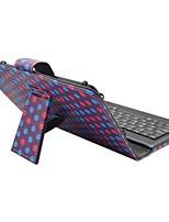 Caso de ipad com teclado usb versão inglesa capa de couro universal de 7-8 polegadas para ipad mini123 mini4