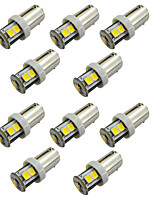 10pcs T10 T5W / BA9S T4W 7SMD 2835 Reading Light Warm White / White