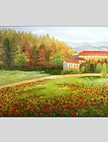 Handgemalte LandschaftAbstrakt Ein Panel Leinwand Hang-Ölgemälde For Haus Dekoration