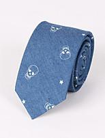 Men 's Casual Fashion Personality Denim Skull Print Tie