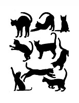 Wall Stickers Wall Decas Style Play Cat PVC Wall Stickers