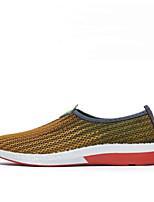 Для мужчин Кеды Удобная обувь Тюль Весна Повседневный Серый Желтый Синий На плоской подошве